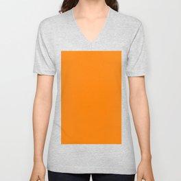 Fluorescent Orange  Neon Orange Unisex V-Neck