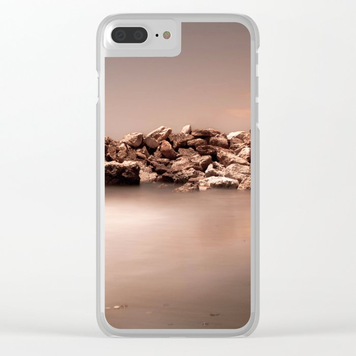 BEACH DAYS 47 Clear iPhone Case