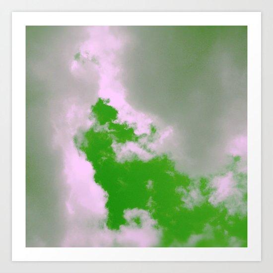 Green Sky! Art Print