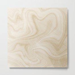 Gold Swirl Marble Metal Print