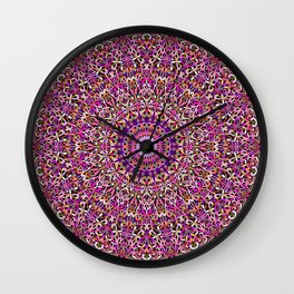 Colorful Girly Lace Garden Mandala Wall Clock
