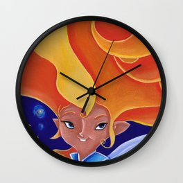 la fée Morganne Wall Clock
