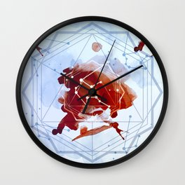 Constellation Set - January Aquarius / Garnet Wall Clock
