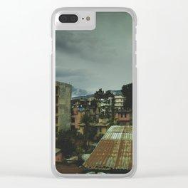 Kathmandu City Roof Top 003 Clear iPhone Case