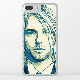 Nevermind Cobain Clear iPhone Case