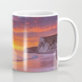 Cliffs at Durdle Door beach in Southern England at sunset Coffee Mug