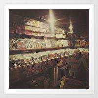 The Record Store Art Print
