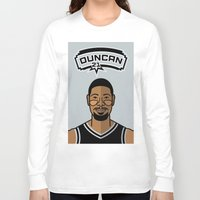 tim shumate Long Sleeve T-shirts featuring Tim Duncan by Will Wild