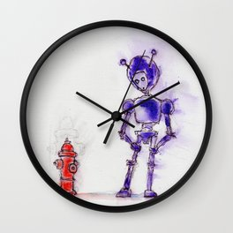Violet Blesses the Rains Down in Africa Wall Clock