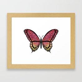 garnet jewel (Juelrye rhodo) fantasy butterfly Framed Art Print