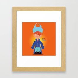 Le petit Mikel /Character & Art Toy design for fun Framed Art Print