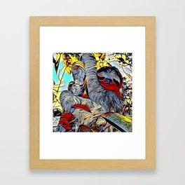 Color Kick -Sloth Framed Art Print