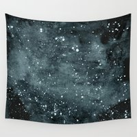 night sky Wall Tapestries featuring Night Sky by Zeryndipity