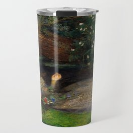 Ophelia from Hamlet Oil Painting by Sir John Everett Millais Travel Mug