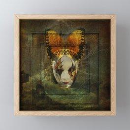 Surrealistic Venetian Mask Framed Mini Art Print