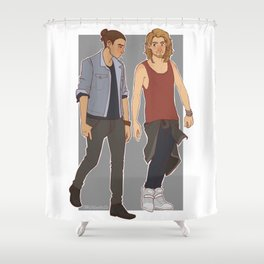 Hipster Fee & Kee Shower Curtain