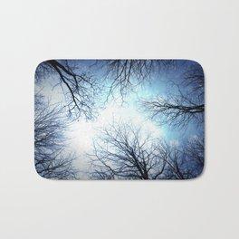 Black Trees Blue sky Bath Mat
