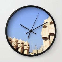 La Pedrera Wall Clock