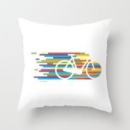 Colorful bicycle 1 Throw Pillow