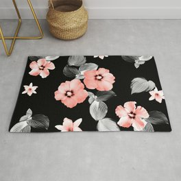 Living Coral Floral Dream #1 #flower #pattern #decor #art #society6 Rug