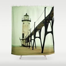 Manistee Light Shower Curtain