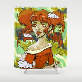 Fall Time Fiona (Painting) Shower Curtain