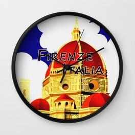 Firenze - Florence Italy Travel Wall Clock