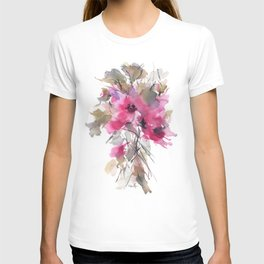 Red Water Blooms T-shirt