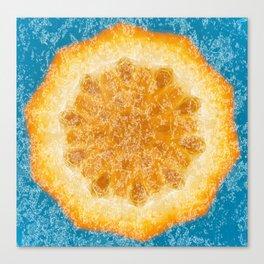 Orange zing trending fruit design Canvas Print