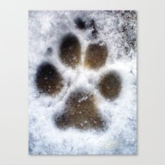 set in snow. Canvas Print