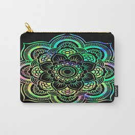 Neon Psychedelic Mandala Carry-All Pouch