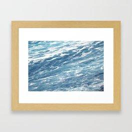 Ocean Water Waves Foam Texture Framed Art Print