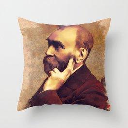 Alfred Nobel, Inventor Throw Pillow
