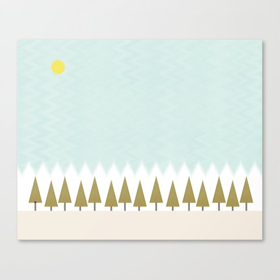 The Forest in Winter Canvas Print