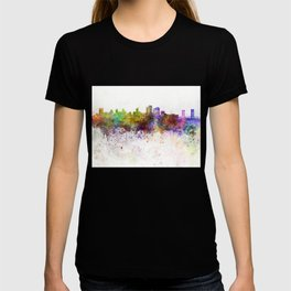 Sacramento skyline in watercolor background T-shirt