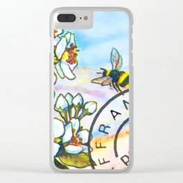 Branch of a Pear tree in Spring Clear iPhone Case