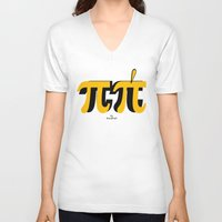 pi V-neck T-shirts featuring PI by bisualhart