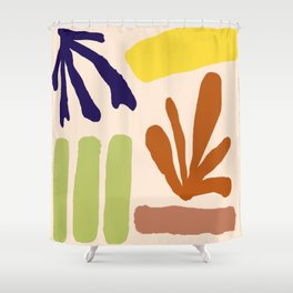 Color Study Matisse Inspired Shower Curtain