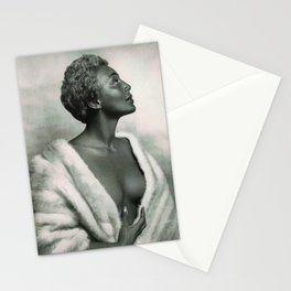 African American Masterpiece 'Joyce Bryant' The Voice You Will Always Remember portrait painting Stationery Cards