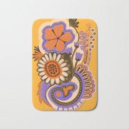 Psychedelic Flowers Bath Mat