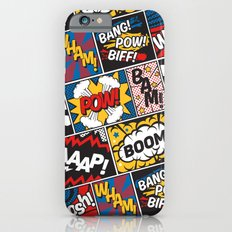 Modern Comic Book Superhero Pattern Color Colour Cartoon Lichtenstein Pop Art iPhone 6 Slim Case