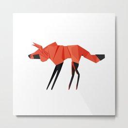 Origami Hyena Metal Print