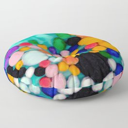 Pom poms Floor Pillow