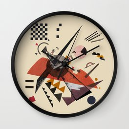 Kandinsky Orange Wall Clock