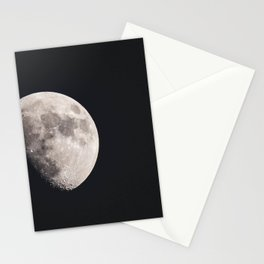 Waxing Gibbous Moon Stationery Cards