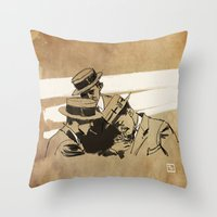 cigarette Throw Pillows featuring cigarette  by Todd A. Winter
