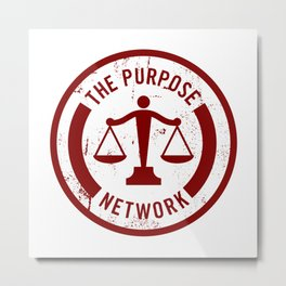 The Purpose Network Metal Print