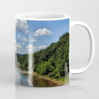 river song Mugs featuring Song of the Delaware River by PamelasDreams