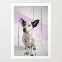 puppy Art Prints featuring puppy by Michael Mann