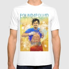 Manny Pacquiao - Pound 4 Pound White Mens Fitted Tee MEDIUM